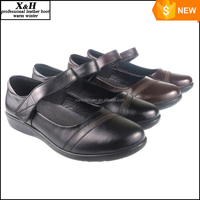 Wholesale Black School Shoes Custom Size High School Girl Retro Leather Shoes Free Shipping Large Size 33-42