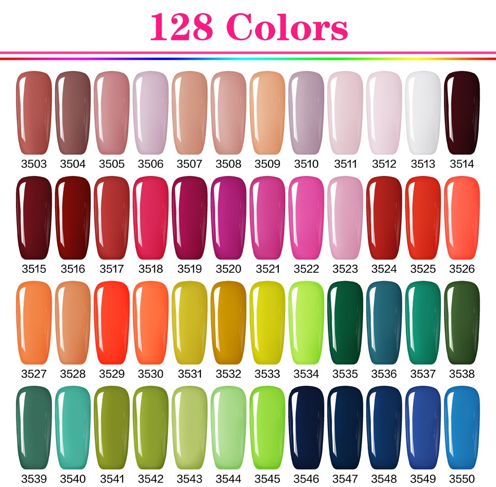 2017 GelArtist Wholesale Colored Soak Off UV Nail Gel polish