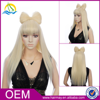 Wholesale best sexy cosplaywig long blonde cosplay wig for women