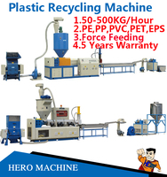 HERO BRAND pe plastic film recycling machine