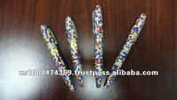 rhinestone jewel crystal bling pen with mixed color rhinestone jewel crystals on ballpoint pen, gift pen, promotional pen