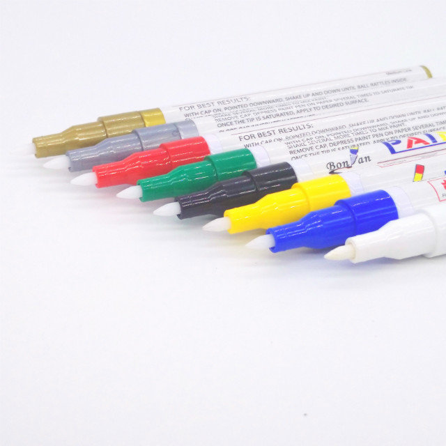 28 color Good quality oil ink acrylic tip aluminum barrel paint marker for metal stone