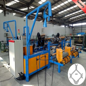 Numerical controlled used fully-automatic chain link fence machine with ISO9001