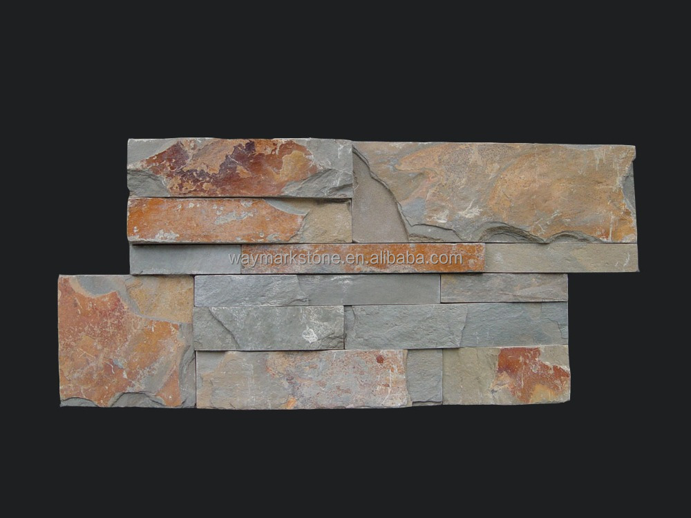 classical multicolor cheap natural stone wall cladding slate and panel (WP-SK20)