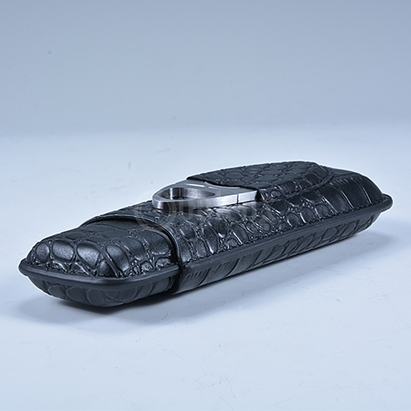 Factory Price Luxury Pu Leather Cigar Case