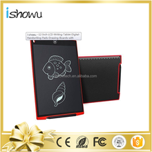 12 inch Fancy Note Pad Boogie Board LCD Writing Tablet plus Drawing Stylus Pen+Erase Function
