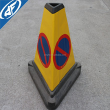 PVC non-adhensive no waiting bollard for triangle traffic cone