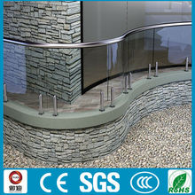 Exterior decorative decking frameless glass railings