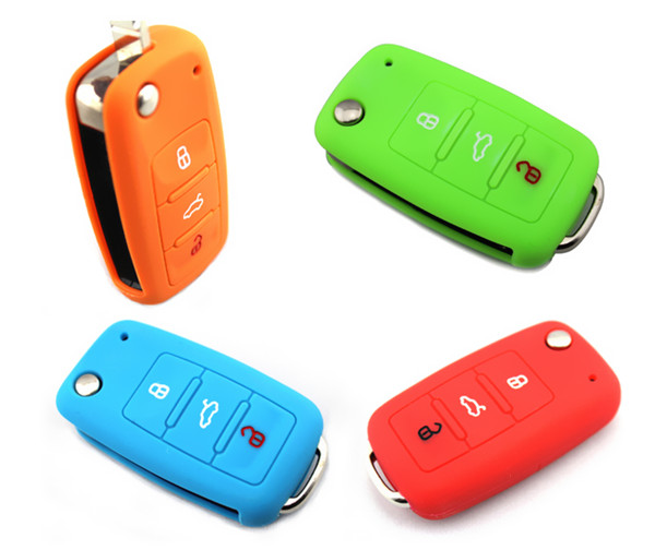 Hot Selling Promotional Gift colorful cheap Silicone Car Key Cover for Tiguan