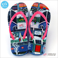 Cheap custom lady slippers multi color heat transfer printing eva slippers women