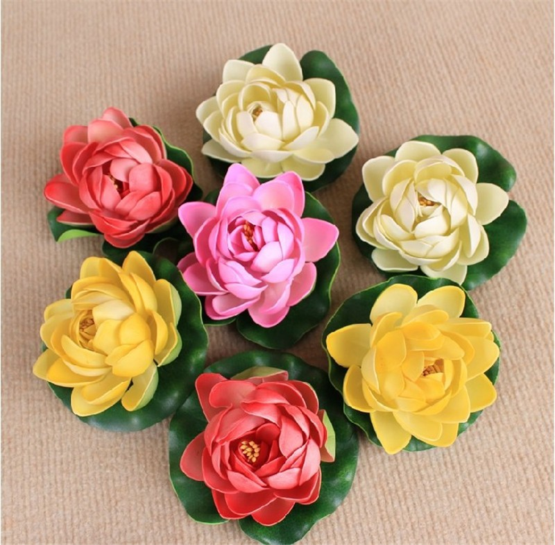 7inch Lotus Leaf 4layers Artificial Flower Manufacturer