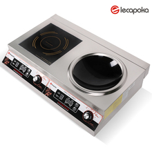 Kitchen appliance 5KW Commercial double burner Induction cooker electromagnetic stove.