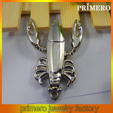 PRIMERO Metal Lobster Keychain cheap stainless steel key chain Movable hands and foot alloy keychain with lobster claw clasp