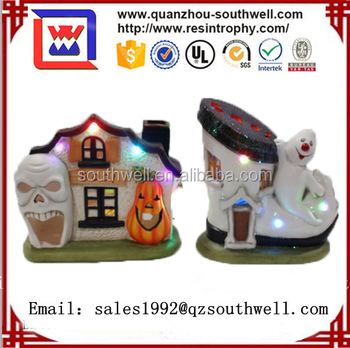2017 Halloween decoration solar led light resin sock statue decor lights