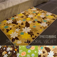 Durable in use professional rubber back anti-slip area rug