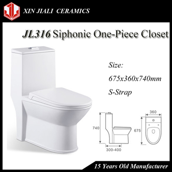 JL316 Siphonic One-Piece Toilet