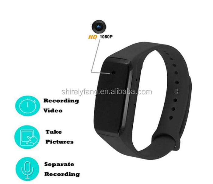 New product HD 1080P Hidden Wearable Bracelet Spy Camera wristband Spy camera photo video and voice recorder