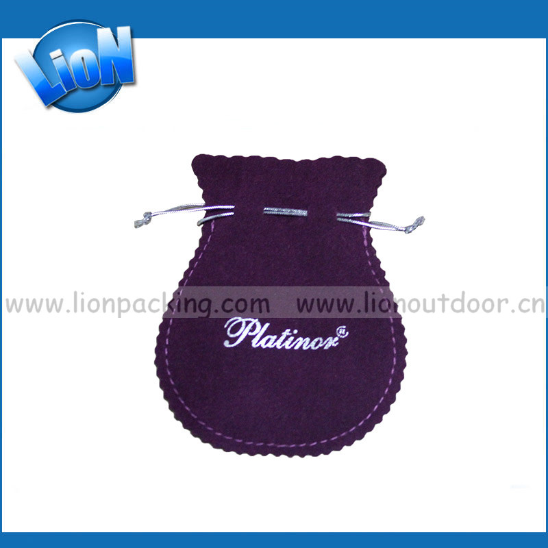 logos printing tailor making round jewelry pouches