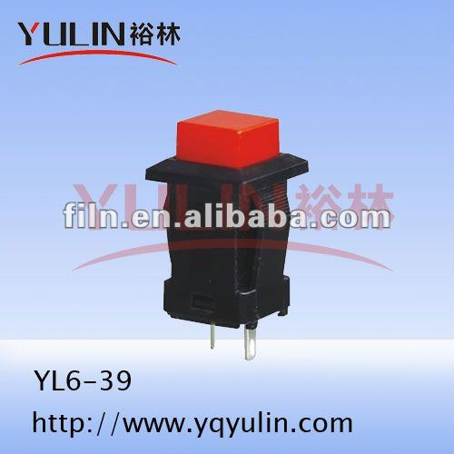 momentary led push button switch waterproof 120v YL6-39 wall