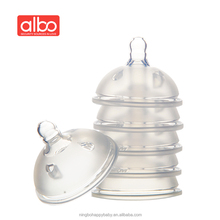 non-toxic ruber big wide neck baby bottle nipple teats