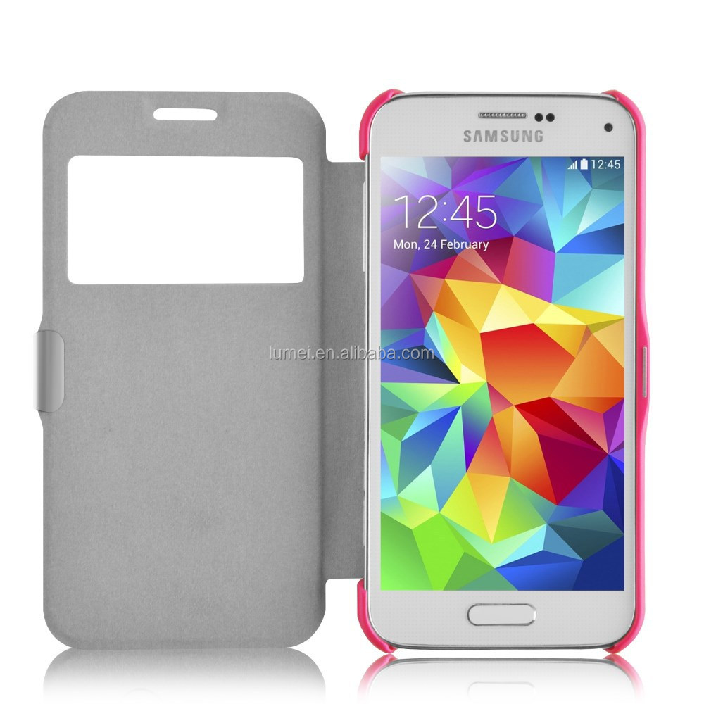 PU leather flip Magnet Lock Cell phone case for samsung galaxy S5 mini