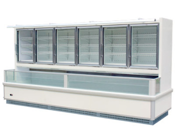 Wall type Multideck Refrigerated Showcase Glass Door