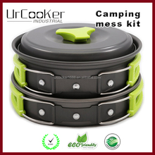 Outdoor portable camping pot 1-2 picnic barbecue pot