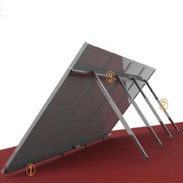 Solar Metal Roofing Systems Adjustable Flat Roof System 10kw Solar PV Mounting System