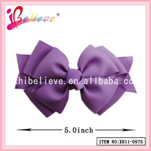 OEM,ODM available Chinese factory produce ribbon bow hair barrette suppliers (XH11-0975)