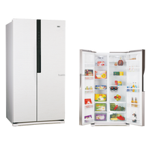 580L frost free side by side intelligent temp control refrigerator