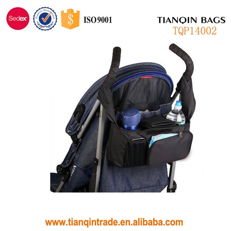 Stroller Organizer with Removable Shoulder Strap Diaper Bag and Car Caddy