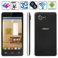 Best style EBEST V5 4GB Black, GPS + AGPS, Android 4.2.1, MTK6572 1.0GHz Dual Core Smart Phone