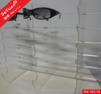 High Polish Eyeglass Display Showcase For Holder