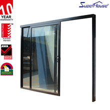 Superhouse AS2047 certified hanging aluminium glass sliding door