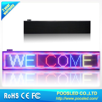 semi outdoor electronic scrolling message board