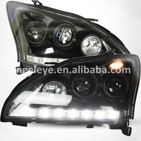 For Lexus RX330 RX350 2004-2009 year LED Headlights Front lamp For RX330 Black Housing SN