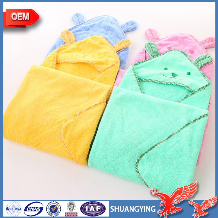 Hot!China Factory Wholesale Iso Certification Antibacterial Soft Boy Girl Animal Baby Bathrobe