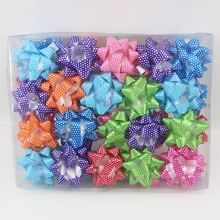 Best price fancy plastic ribbon pull bow gift box decorative pull bow
