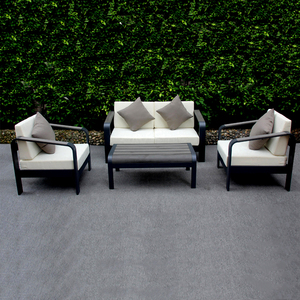 Belt And Road Garden Alloy Aluminium Poly Wood Powder Coated Sofa Set for Sale