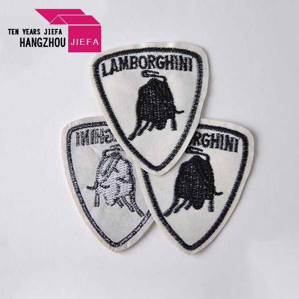 Custom garment patch label laser cut woven patch for clothing