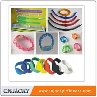 high quality waterproof silicone RFID wristband manufacture