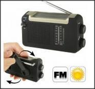 Solar and Hand Crank FM AM Radio With Antenna