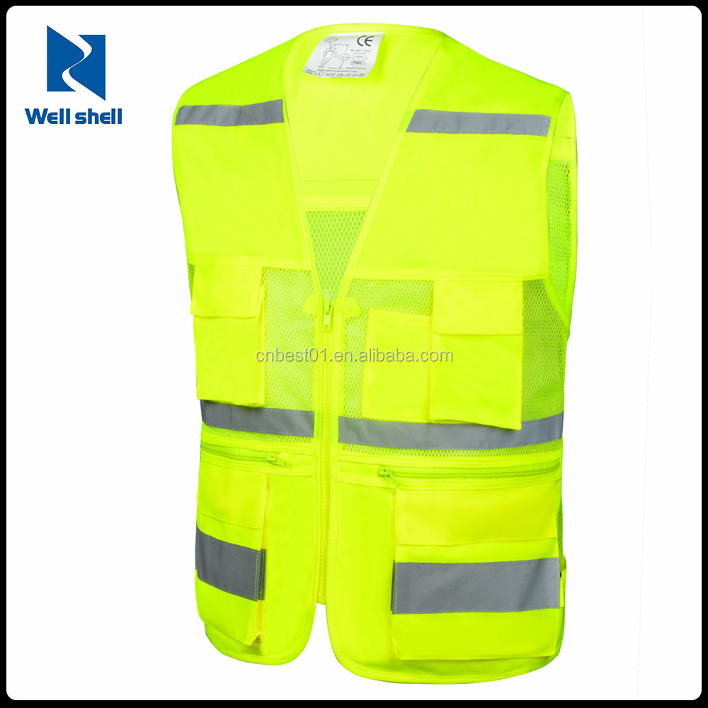 Women Men Pocket Jogging Running Cycling Biking Reflective safety Gear Vest