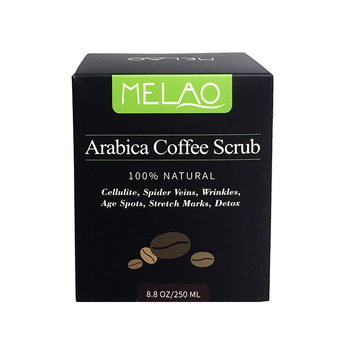 100% Natural Melao Brand Arabica Body Coffee Scrub 12 oz. with Organic Coffee