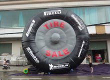 Customize inflatable tire advertising, inflatable tire model for promotion