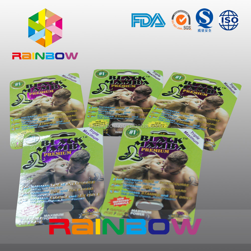 Sex Enhancement/Sex Tablets packaging bags/blisters/boxes for men