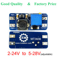 [DC DC step up converter] boost 2A power supply module IN 2V- 24V to OUT 5V-28V adjustable regulator board big current