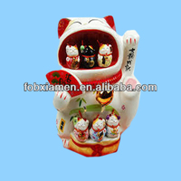 Antique Japanese Ceramic Lucky Cat