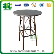 European style aluminum outdoor round bar table with fabric top (ET008BFR)