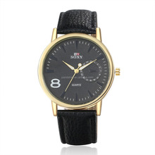 Black Color Cheap Imitation Fashion Collocation Men Business Wrist Watch